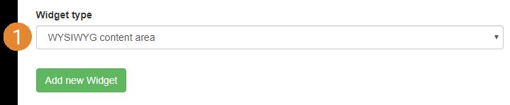 add new widget interface