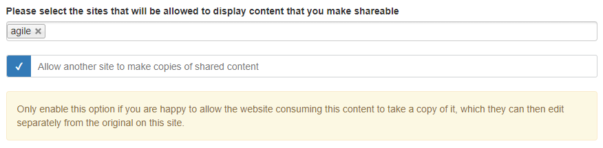 let other sites make copies of content you have shared with them