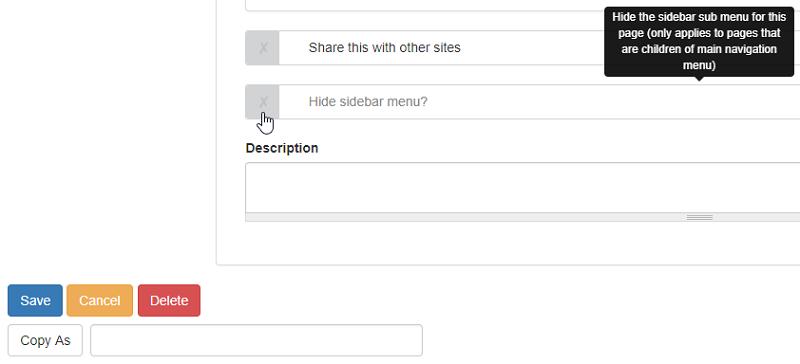 Hide sidebar checkbox in page edit-setup