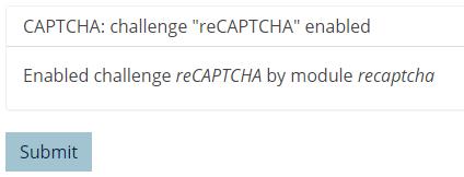recaptcha mesage for content editors