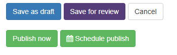 Workflow save state buttons