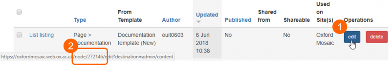 finding a page's node ID