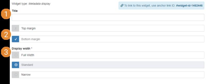 metadata display ui