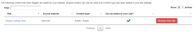 shared content management - remove content