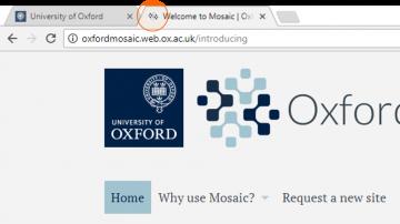 The Oxford Mosaic favicon