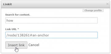Linkit example of appending anchor ID